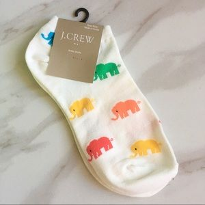 J. CREW Multi-Color Elephant Ankle Socks